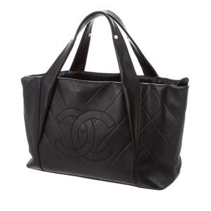 CHANEL CC Quilted Handle Bag